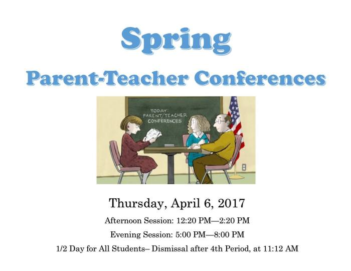 Spring 2017 Parent teacher Conference