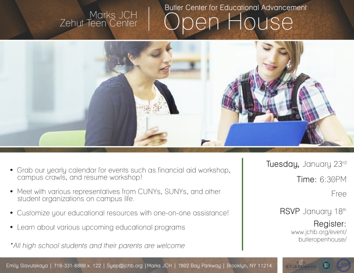 Butler Center Open House Flyer