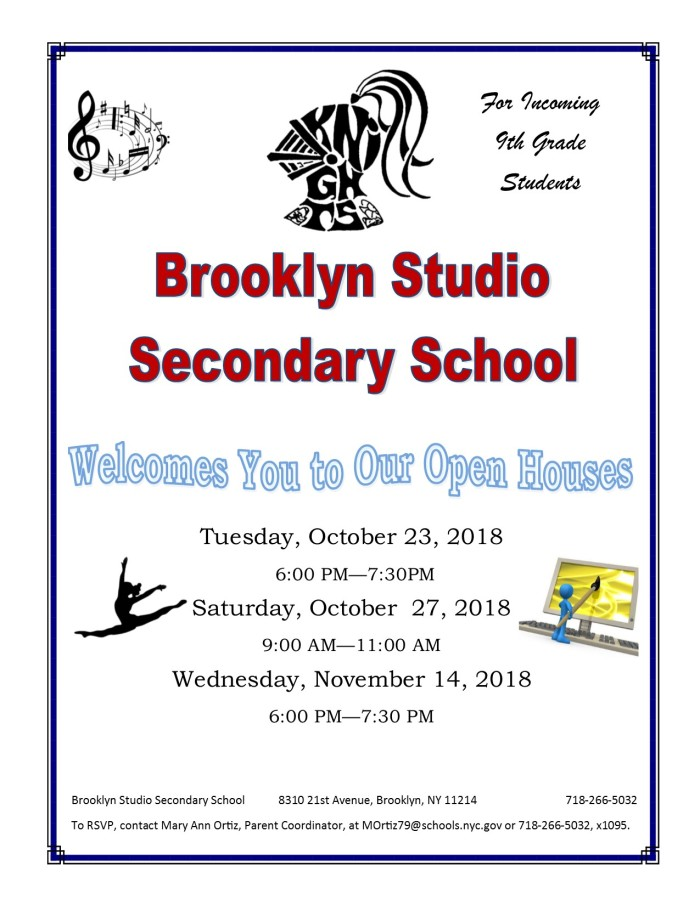 Open House Flyer- 9th Grade
