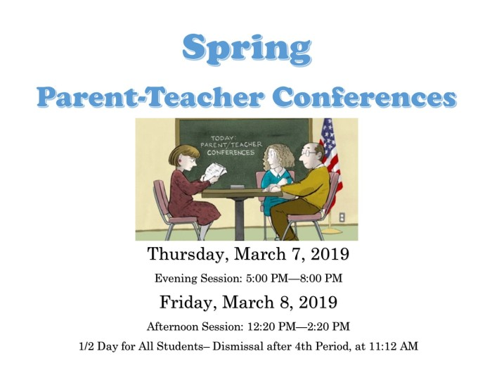 Spring 2019 Parent-Teacher Conferences