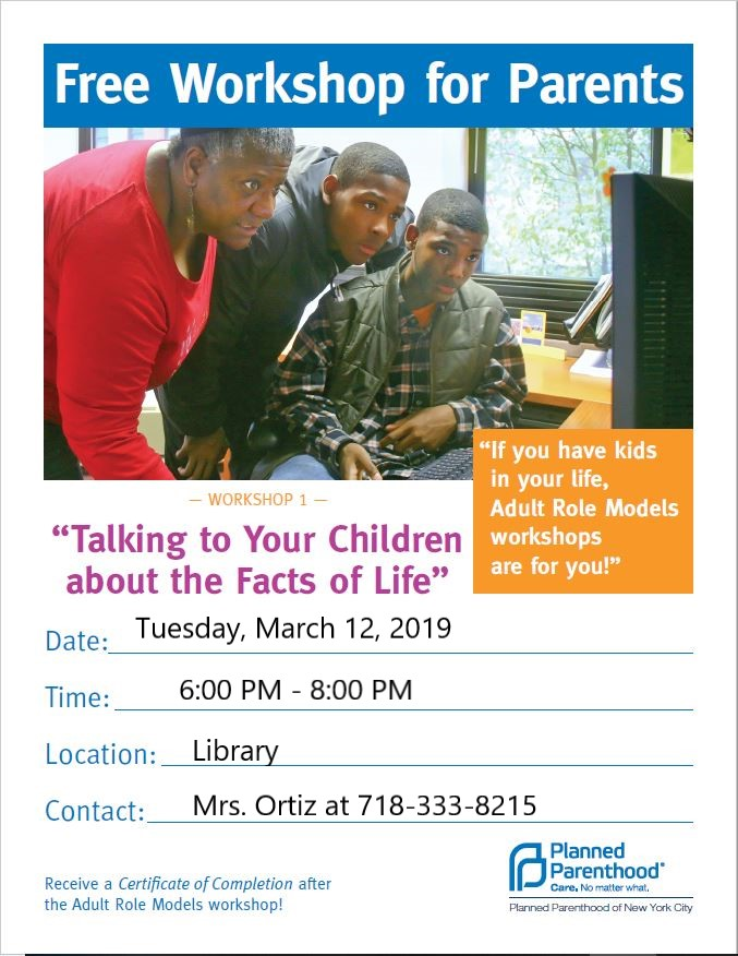"""Workshop 1- Talking to Your Children about the Facts of Life"""""""