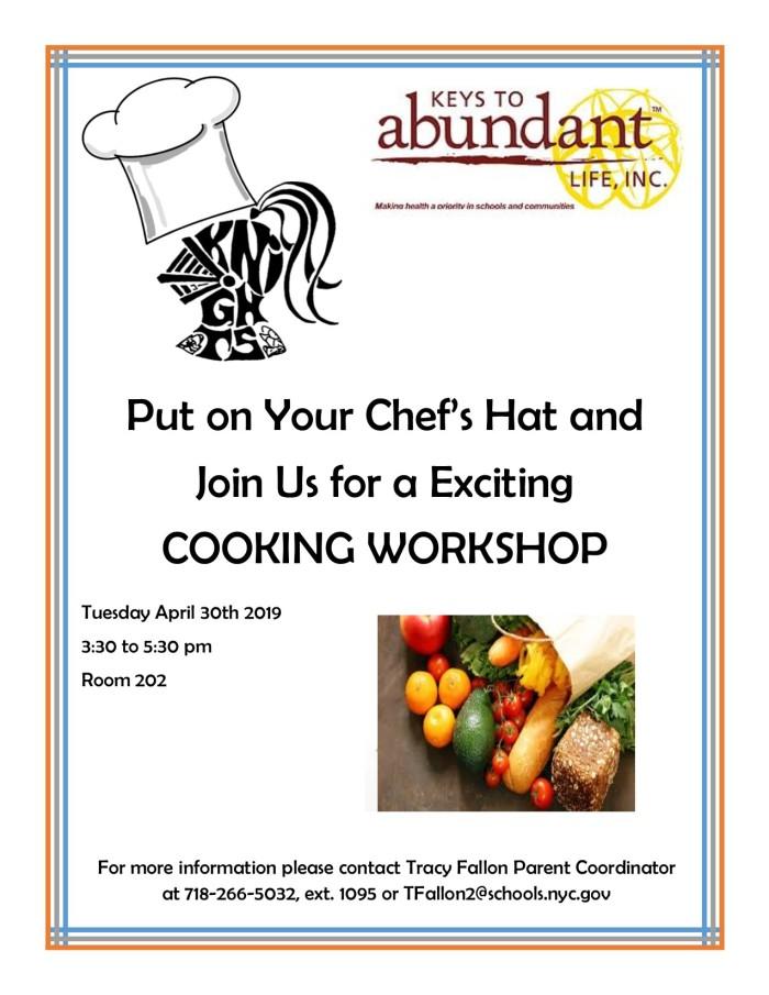 Cooking Workshops April 2019